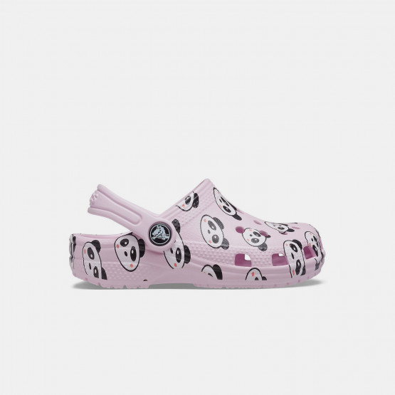 Crocs Classic Panda Print Kid's Sandals
