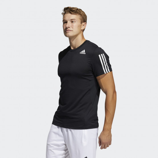 adidas Performance Techfit  3-Stripes Ανδρική Μπλούζα