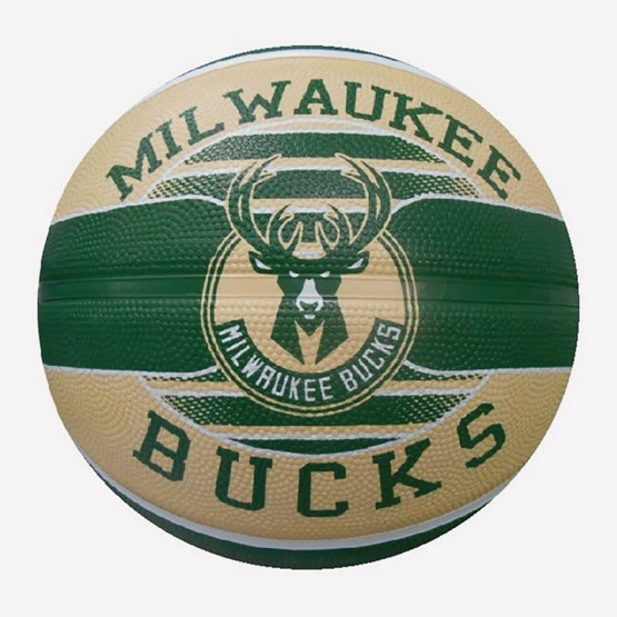 Spalding Nba Milwaukee Bucks Team Sz7 Rubber Baske