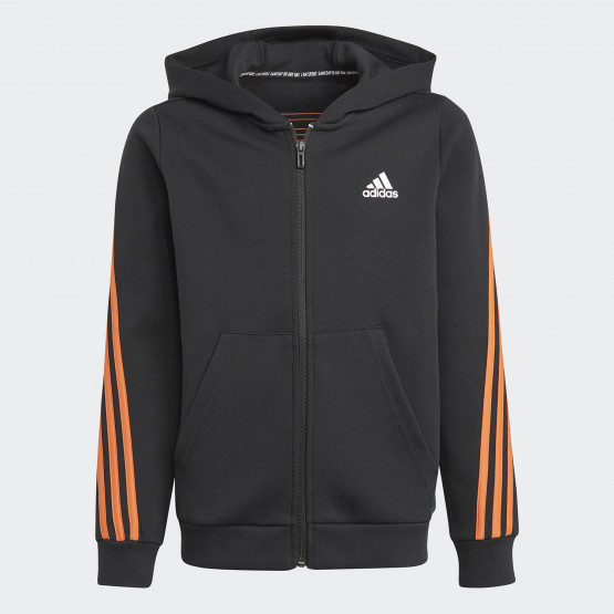 adidas Performance 3-Stripes Doubleknit Full-Zip Kid's Hoodie