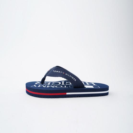 Tommy Jeans Logo Print Kid's Flip Flops