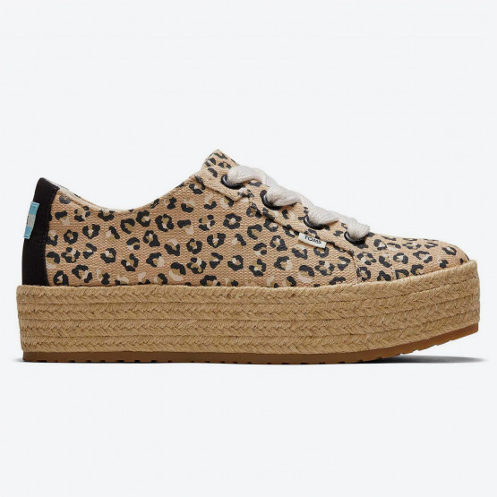 TOMS Alpargata Cassiah Nat Textured Cheetah Wm Cas