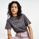 Tommy Jeans Organic Cotton Blend Cropped Fit Multi Women's T-shirt