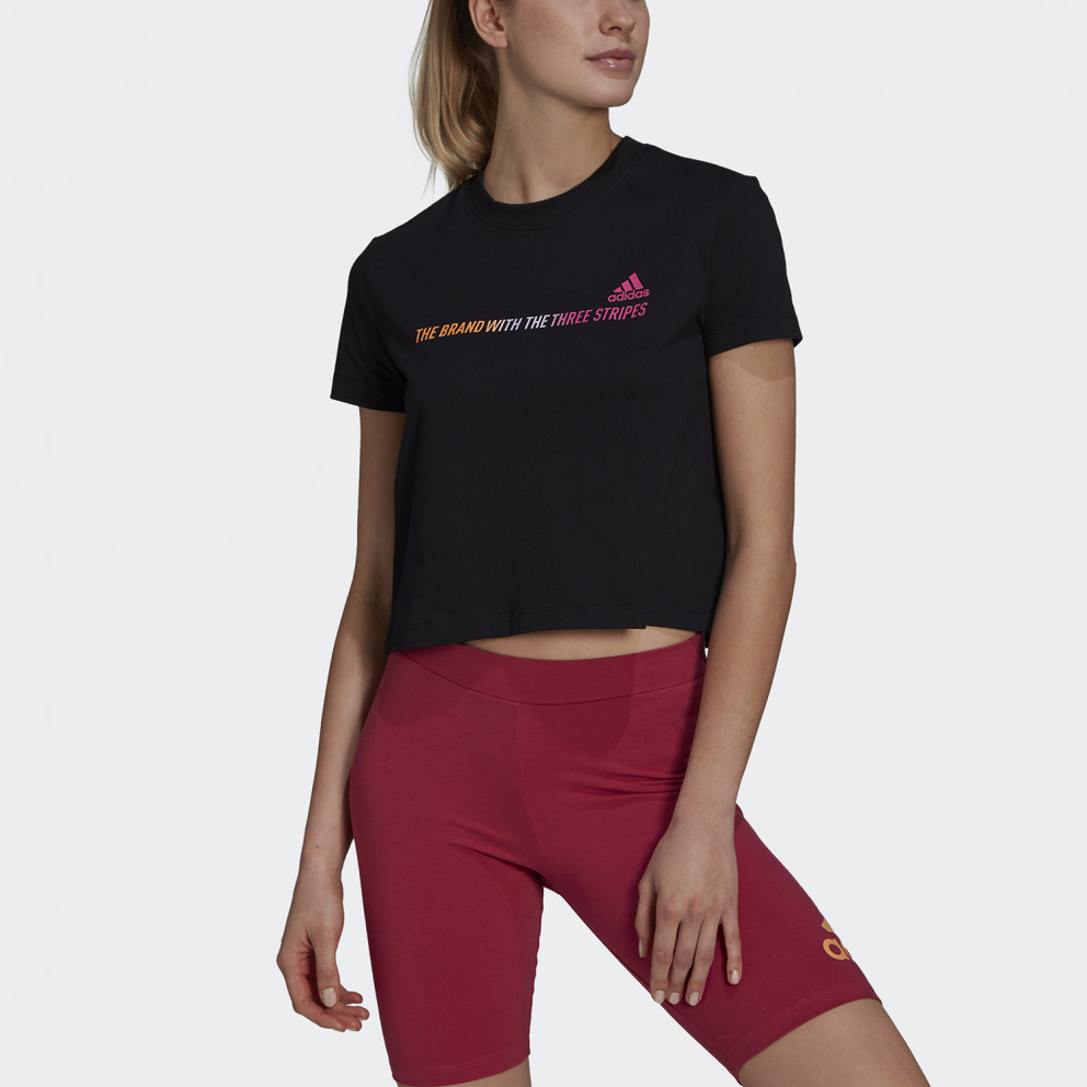 adidas Performance Essentials Gradient Cropped Γυναικείο T-shirt