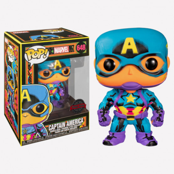 Funko Pop! Marvel: Black Light - Captain America