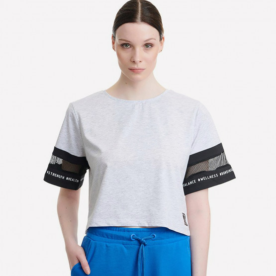BodyTalk Trainforw Loose Cropped Tshirt Ss  60%Co