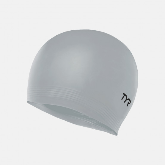 TYR Solid Latex Caps  Silver