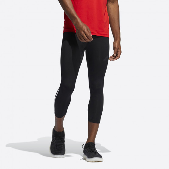 adidas Performance Techfit 3/4 3-Stripes Men's Leggings