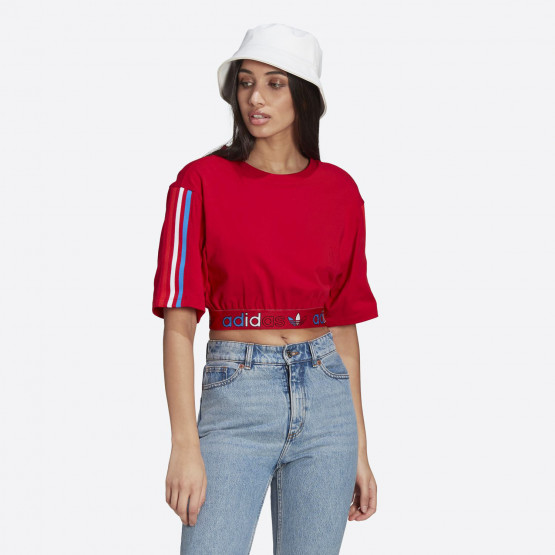 adidas Originals Adicolor Primeblue Tricolor Cropped Women's T-shirt