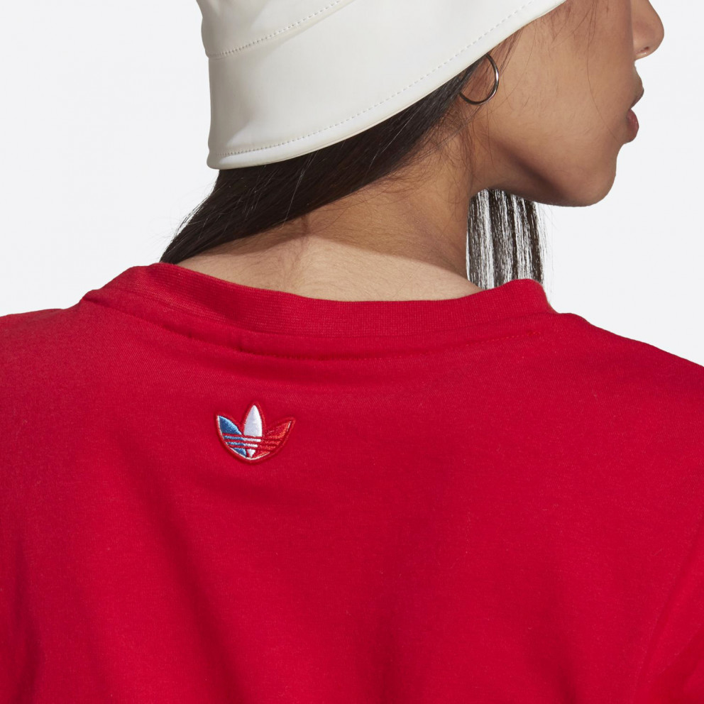 adidas Originals Adicolor Primeblue Tricolor Cropped Γυναικείο T-shirt