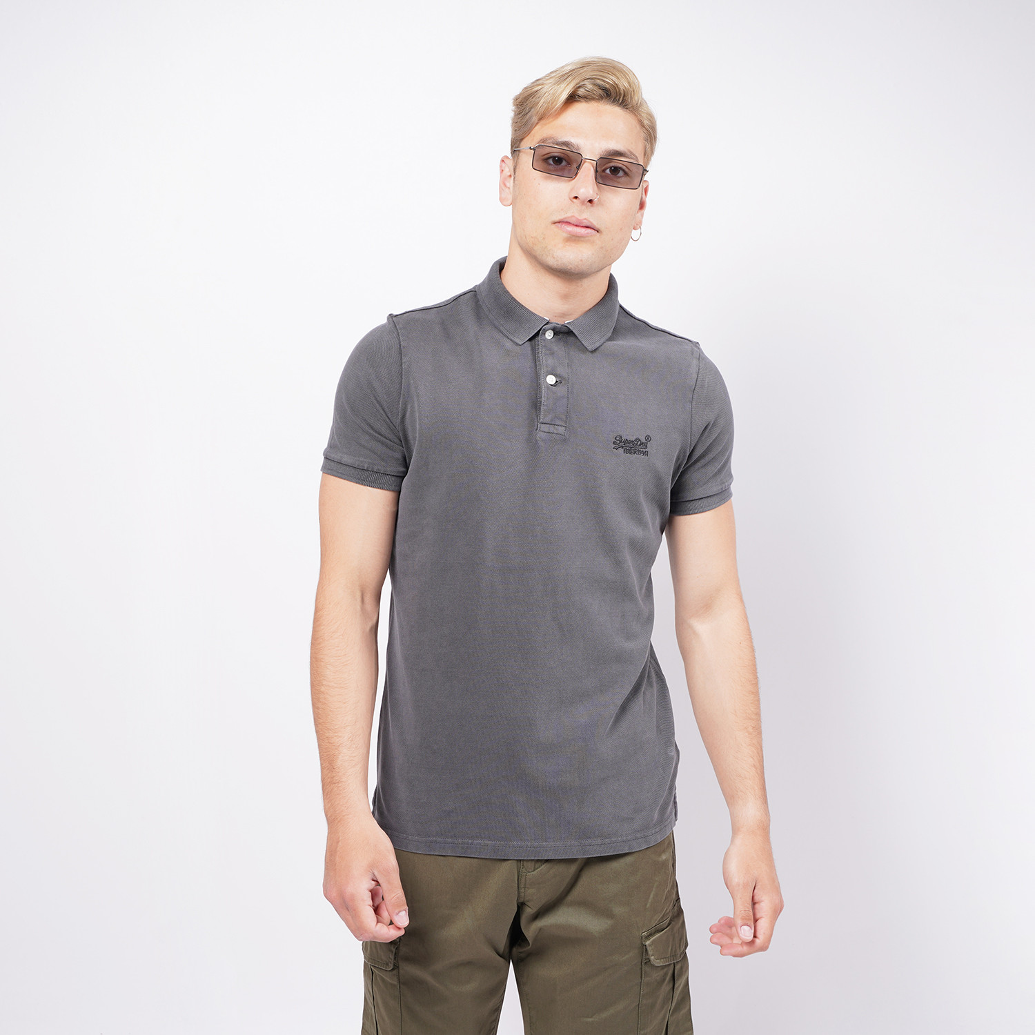 Superdry D2 Vintage Destroyed Pique Ανδρικό Polo T-shirt (9000073804_51639)