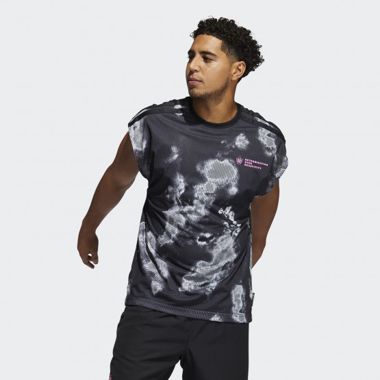 adidas Performance Donovan Mitchell Ανδρικό Αμάνικο T-shirt