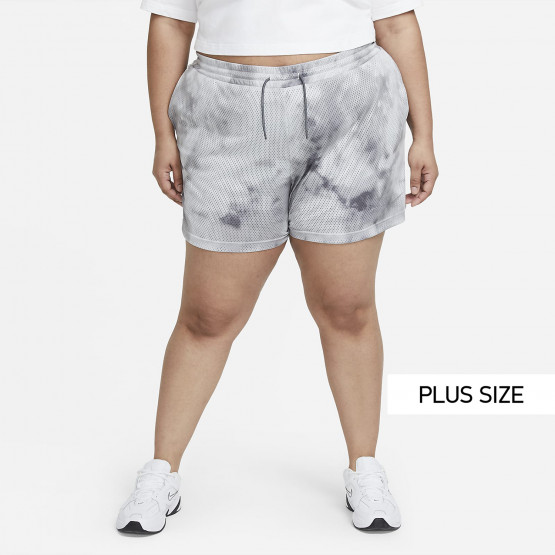 Nike W Nsw Icn Cls Shrt Aop Hr Plus