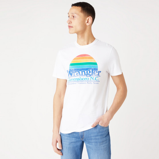 Wrangler Graphic Tee White Ανδρικό T-shirt