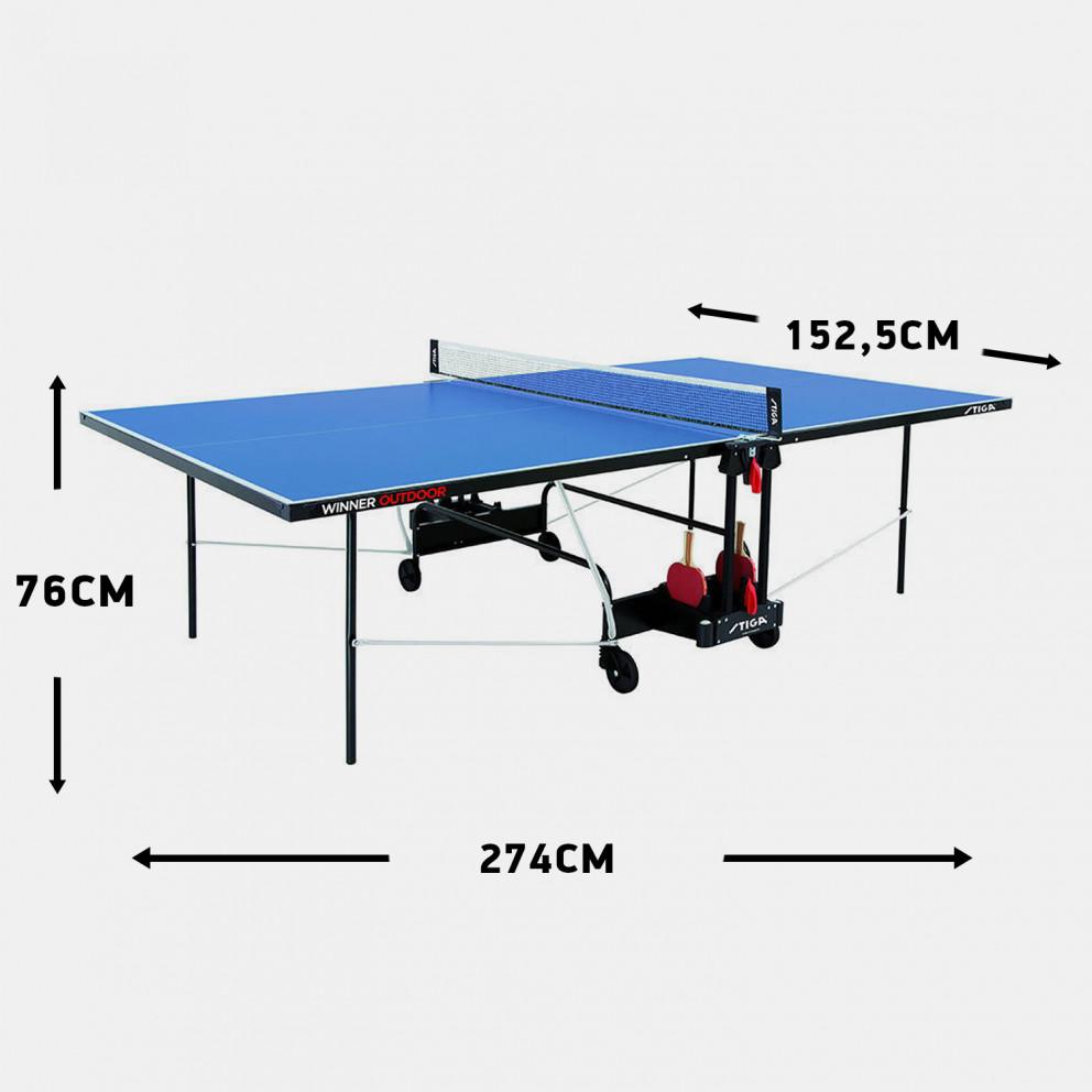 Stiga Winner Outdoor Table Tenni 274 X 152,5 X 76 Cm