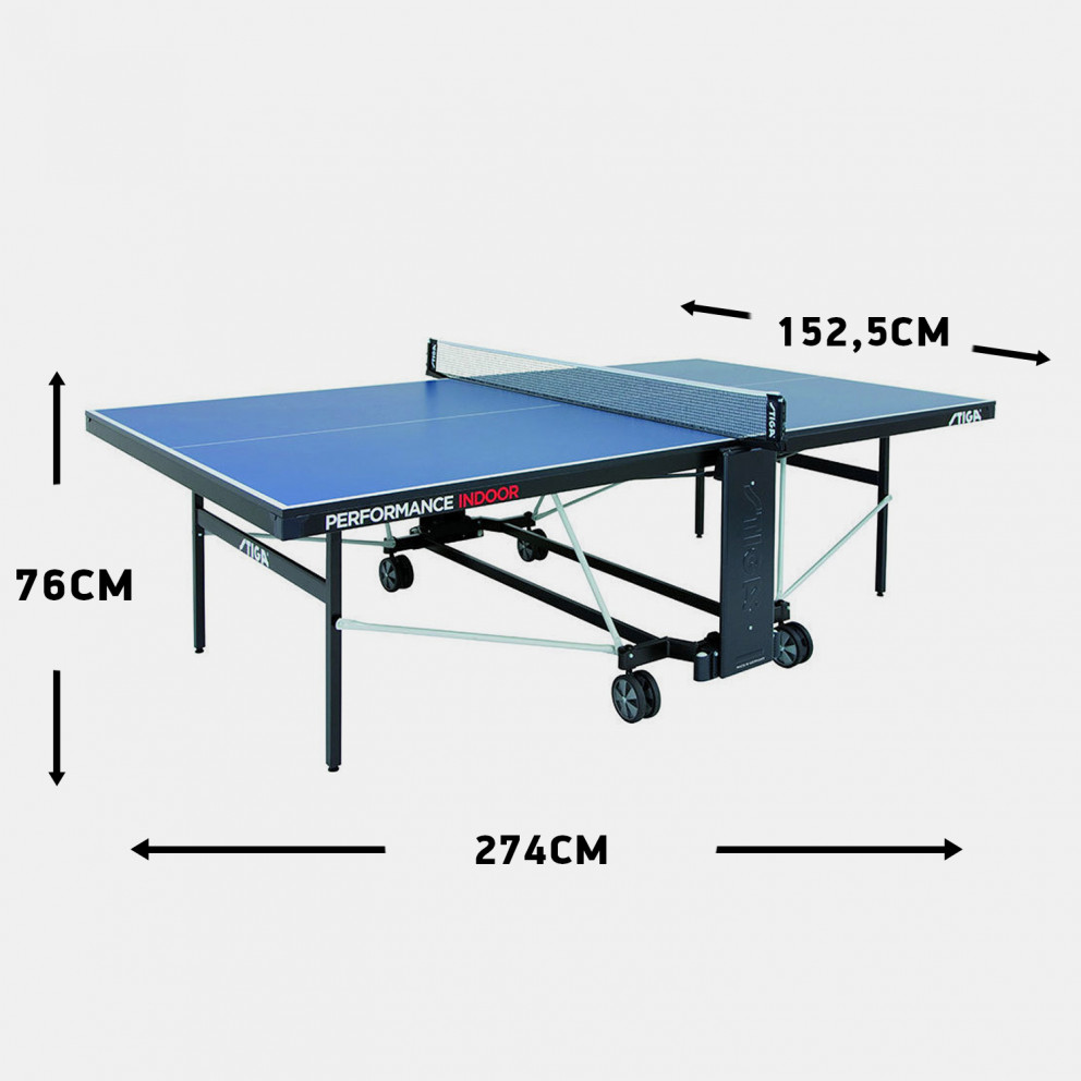Stiga Performance Indoor Ping Pong Table 274 X 152,5 X 76 Cm