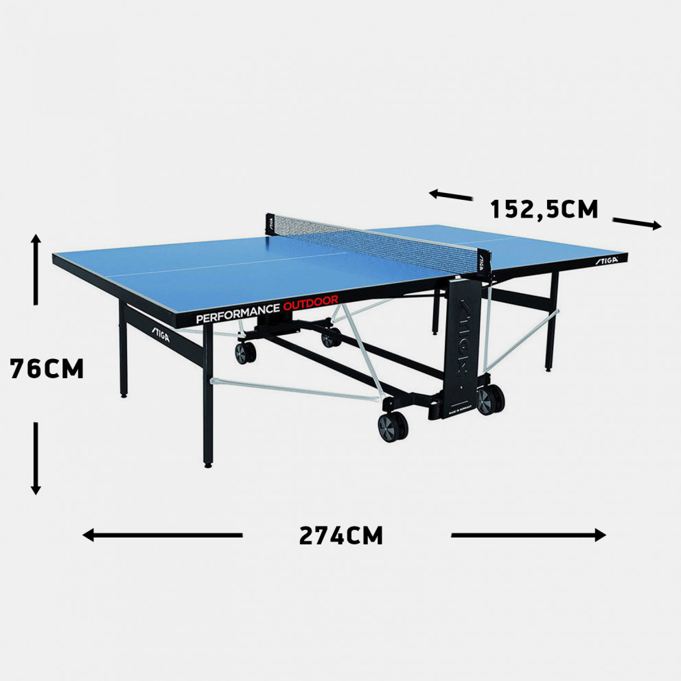 Stiga Performance Outdoor Ping Pong Table 274 X 152,5 X 76 Cm