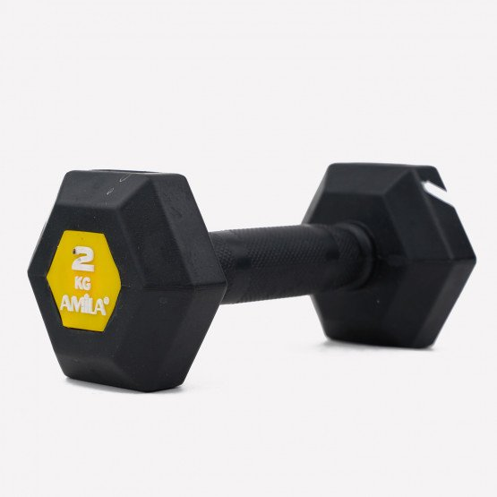 Amila Hexagon Dumbbell Original Rubber 2kg