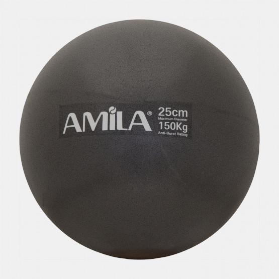 Amila Μπάλα Pilates 25Cm, Μαύρη, Σε Κουτί