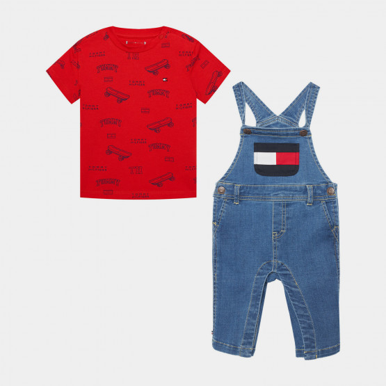Tommy Jeans Baby Tommy Dungaree Set