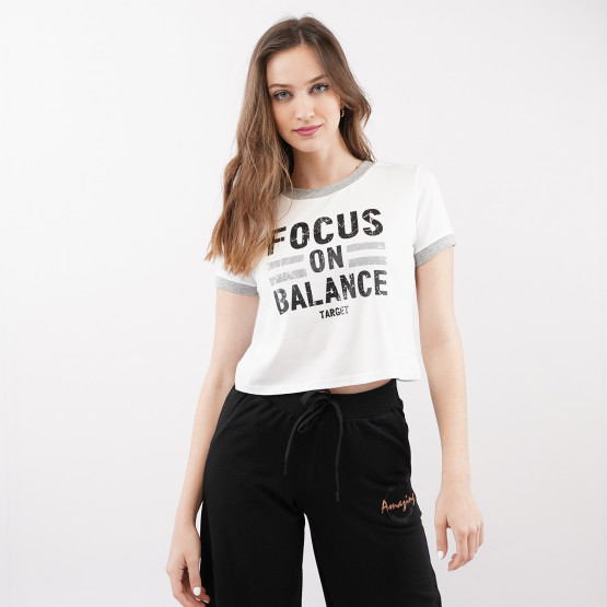 Target ''Focus'' Woman's Crop Top T-Shirt