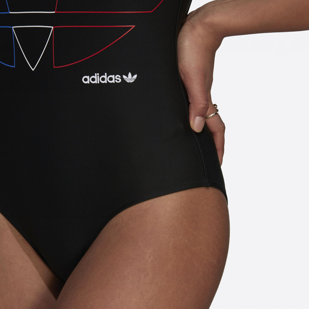 adidas Originals Adicolor Primeblue Tricolor Trefoil Γυναικείο Ολόσωμο Μαγιό