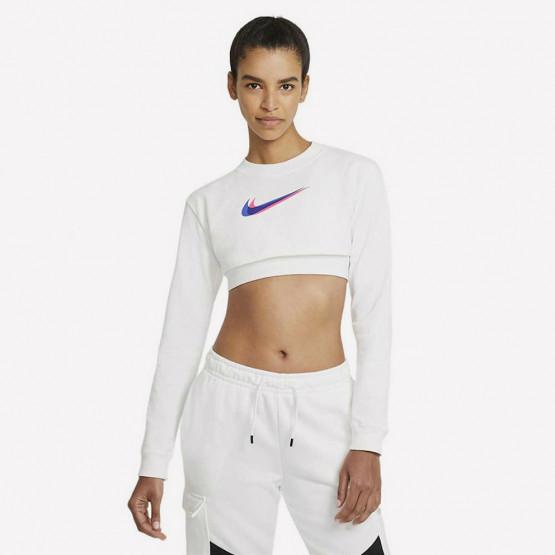 Nike W Nsw Top Ls Crop Prnt