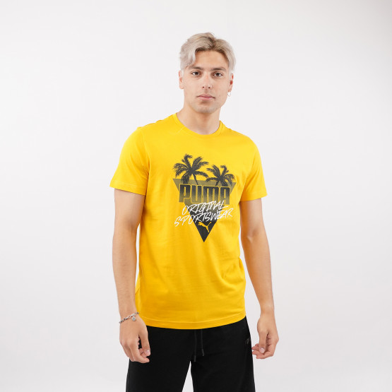 Puma Summer Palms Graphic  Men's T-Shirt