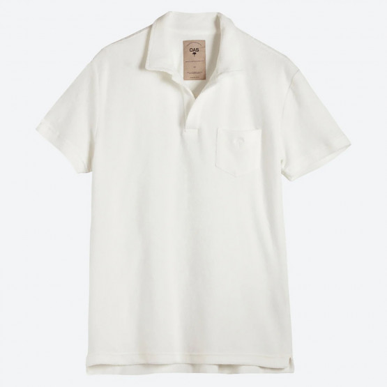 OAS Solid White Terry Polo