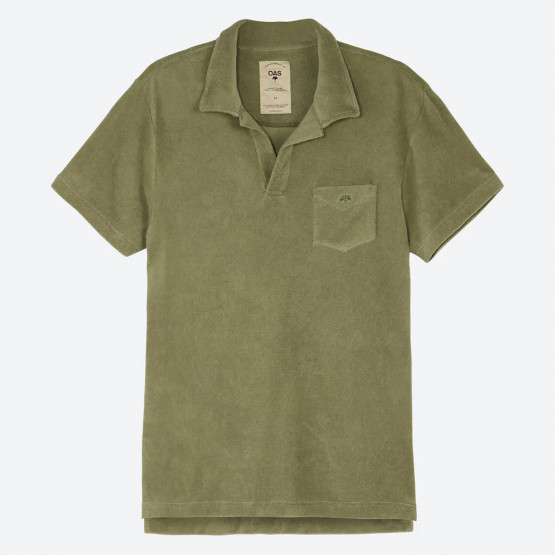OAS Solid White Men's Polo T-shirt
