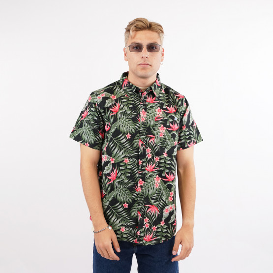 Hurley M Floral Printed Woven Top Ss Μπλουζα