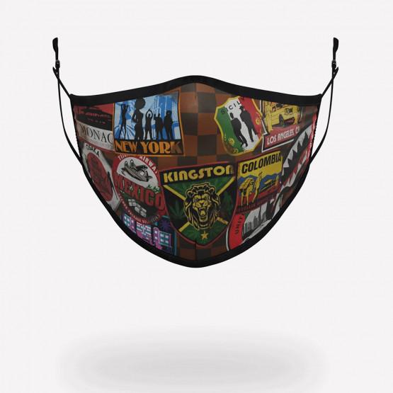 Sprayground Travel Patches Face Mask
