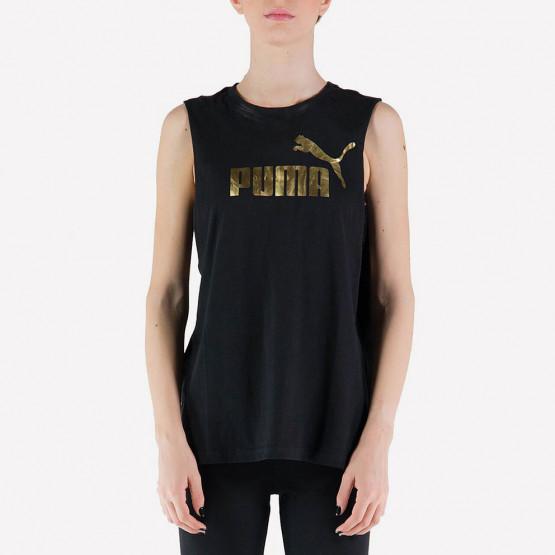 Puma ESS+ Cut Off Metallic Logo Tan