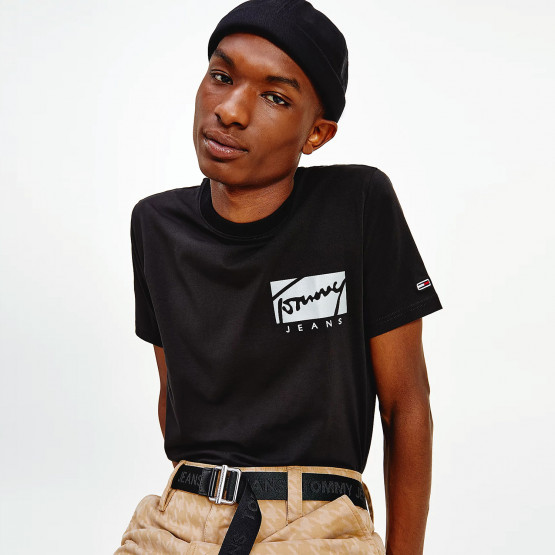 Tommy Jeans Script Box Logo Men's T-Shirt