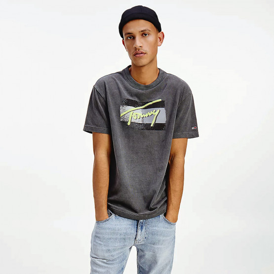 Tommy Jeans Tjm Faded Flag Script Tee