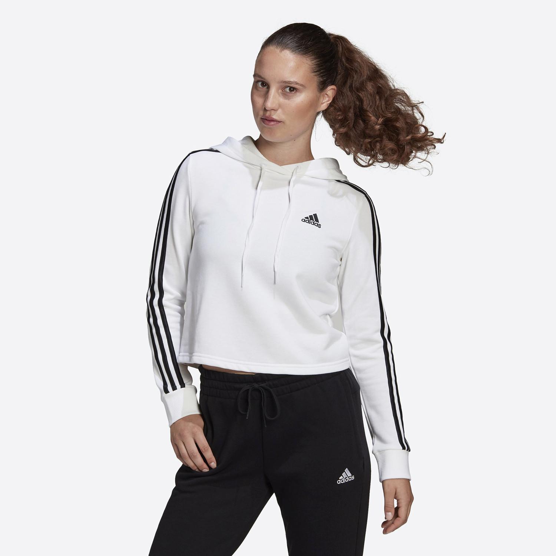 adidas Performance Essentials 3-Stripes Cropped Γυναικείο Φούτερ (9000084072_1540)