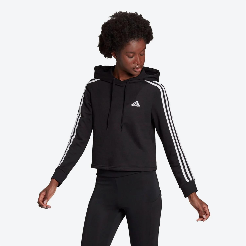 adidas Essentials 3-Stripes Cropped Γυναικεία Φούτερ (9000082973_1480)