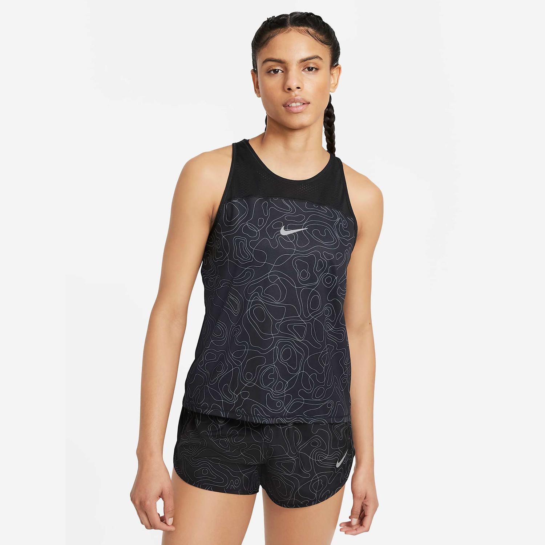 Nike Miler Run Division Women's Printed Running Γυναικείο Tank Top (9000076846_8621)