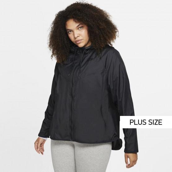 Nike Sportswear Windrunner Γυναικείο Plus Size Αντιανεμικό Μπουφάν