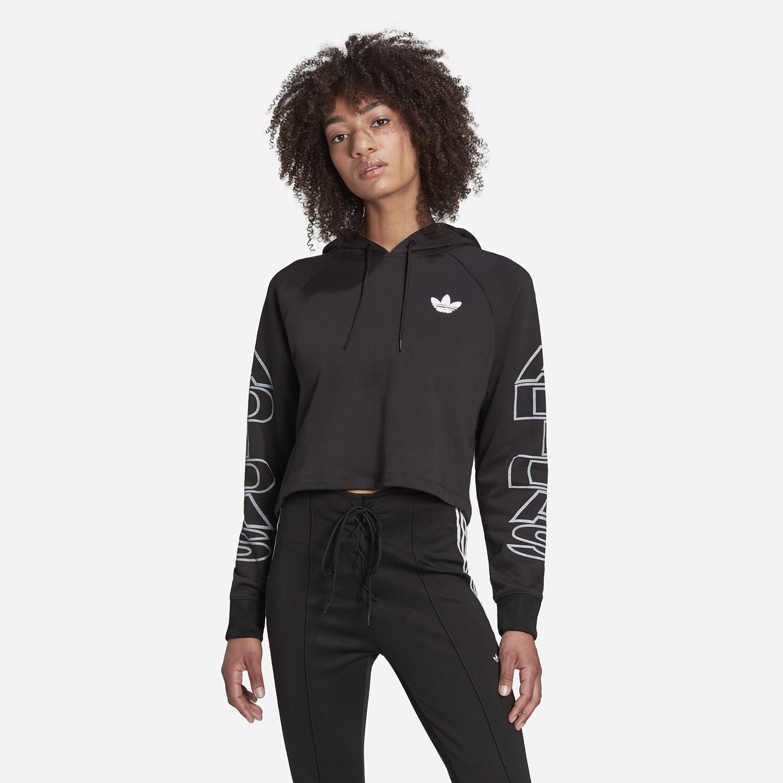 adidas Originals Γυναικεία Cropped Μπλούζα Με Κουκούλα (9000086749_1469)