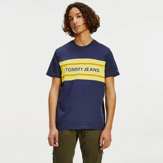Tommy Jeans Stripe Colorblock Ανδρικό T-shirt