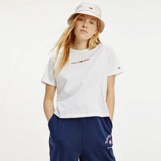 Tommy Jeans Boxy Multi Linear Γυναικείο Crop Top