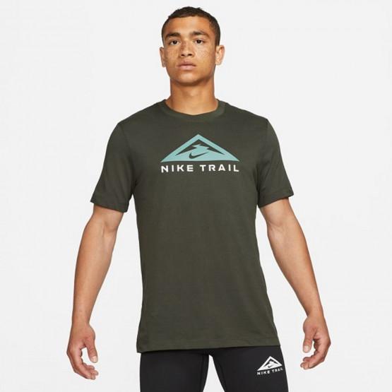 Nike Trail Dri-FIT Miler Ανδρική Μπλούζα για Τρέξιμο