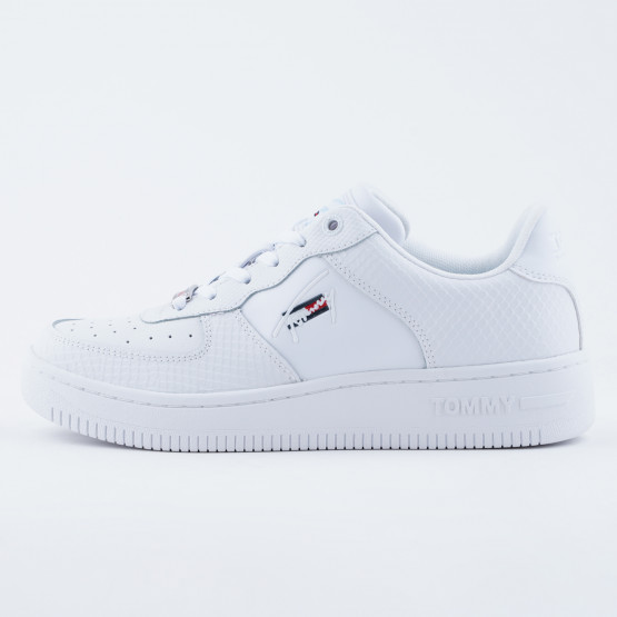Tommy Jeans Textured Leather Basket Cupsole