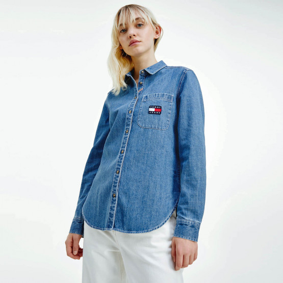 Tommy Jeans Regular Chambray Badge Women's Shirt