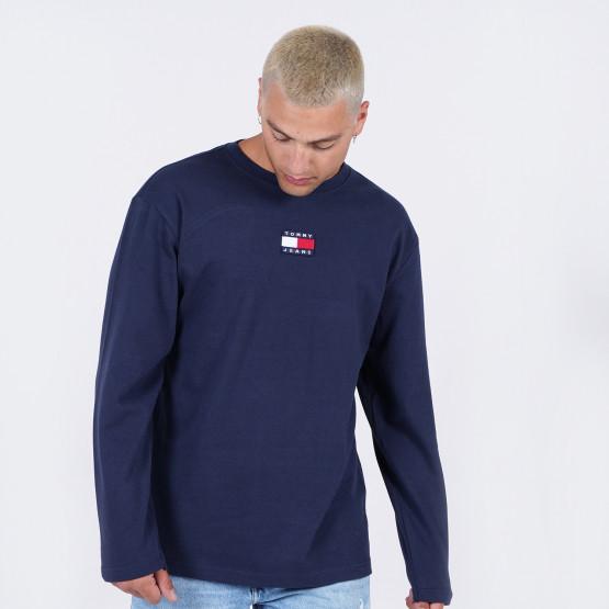 Tommy Jeans Badge Ανδρική Μπλούζα με Μακρύ Μανίκι