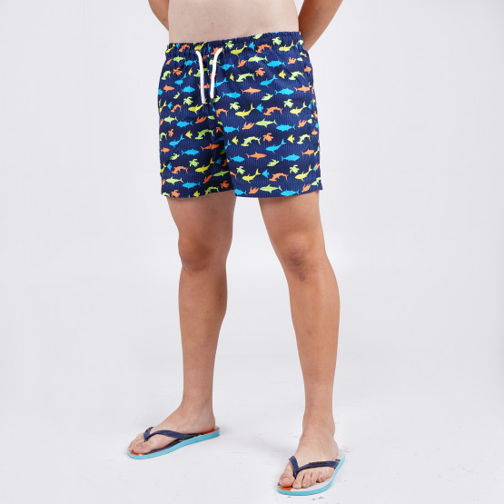 Brotherhood With Pattern Men's Swimsuit Shorts