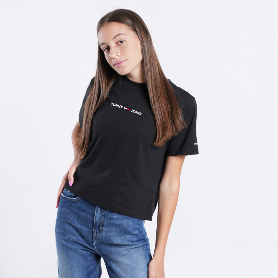 Tommy Jeans Linear Logo Γυναικείο T-shirt