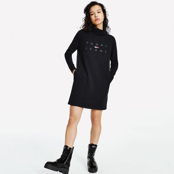 Tommy Jeans Mock Neck Logo Φόρεμα