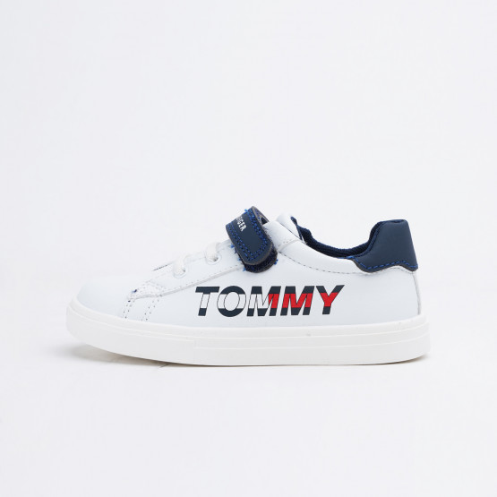 Tommy Jeans Low Cut Lace-Up/Velcro Sneaker White/B